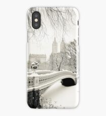Winter - Central Park - Bow Bridge - New York City iPhone Case/Skin