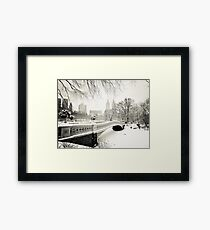 Winter - Central Park - Bow Bridge - New York City Framed Print