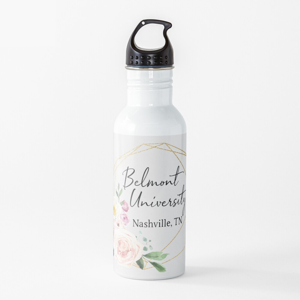 FLORAL BELMONT UNIVERSITY LOGO Water Bottle