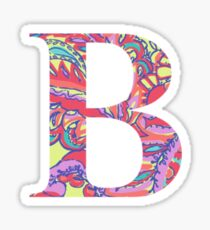 The Letter B - Lily Style Sticker