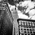 Empire State Building - Cloudy Day - Manhattan by Vivienne Gucwa