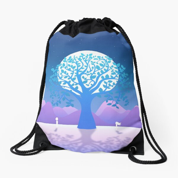 Moonlit Rendezvous Drawstring Bag