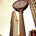 Flatiron Building and 5th Avenue Clock - New York City by Vivienne Gucwa