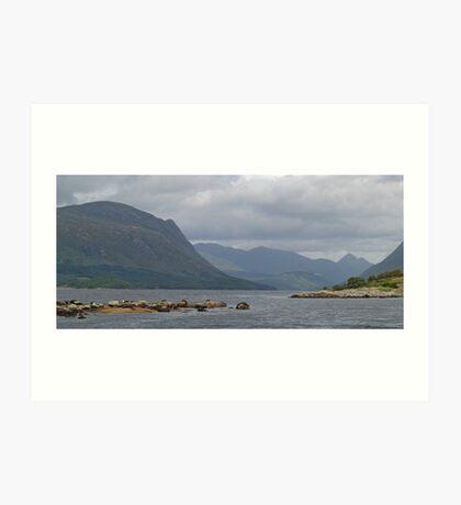 Loch Etive With Seals Art Print