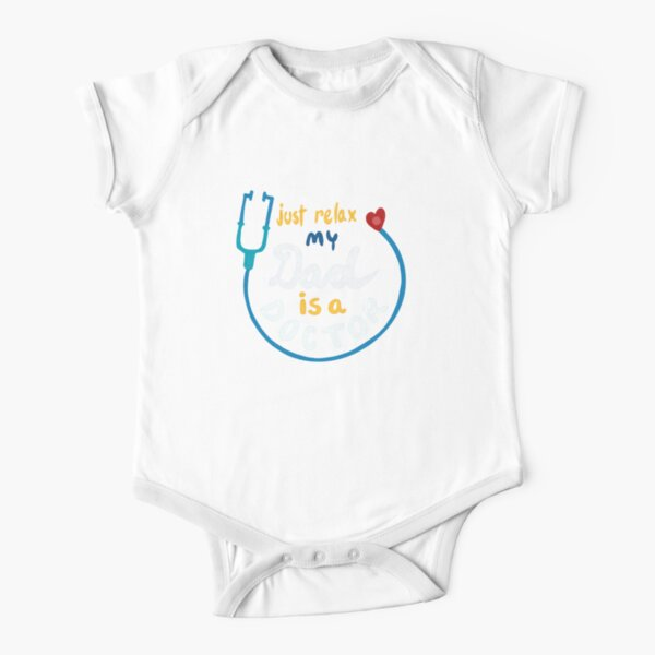 My Dad is a Doctor Short Sleeve Baby One-Piece