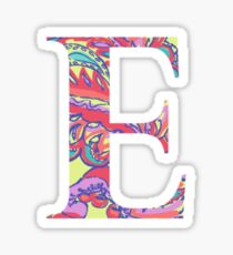 The Letter E - Lily Style Sticker