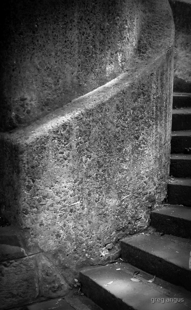 spiral stairs in stone  by greg angus