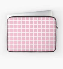 Pastel Pink Grid  Laptop Sleeve