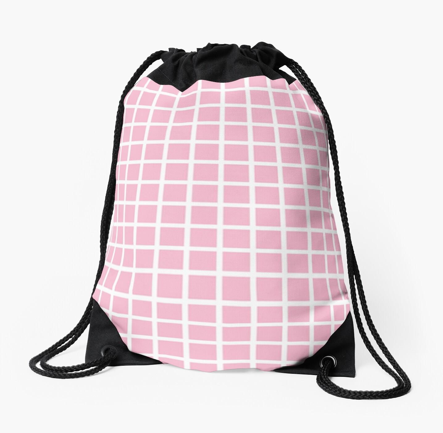 Pastel Pink Grid