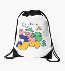 Friendly Hiker Drawstring Bag