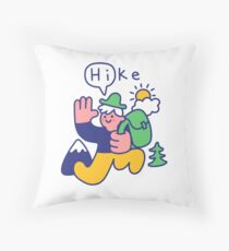 Friendly Hiker Throw Pillow