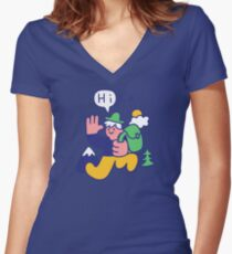 Friendly Hiker Fitted V-Neck T-Shirt