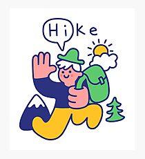 Friendly Hiker Photographic Print