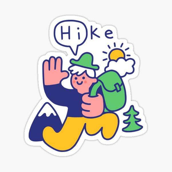 Friendly Hiker Sticker
