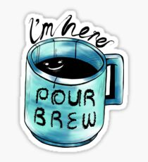 Encouraging Coffee Cup Sticker