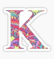 The Letter K - Lily Style Sticker