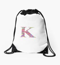 The Letter K - Lily Style Drawstring Bag