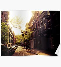 Sunlit Street - Greenwich Village - New York City Poster
