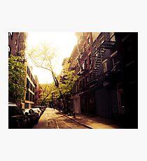 Sunlit Street - Greenwich Village - New York City Photographic Print
