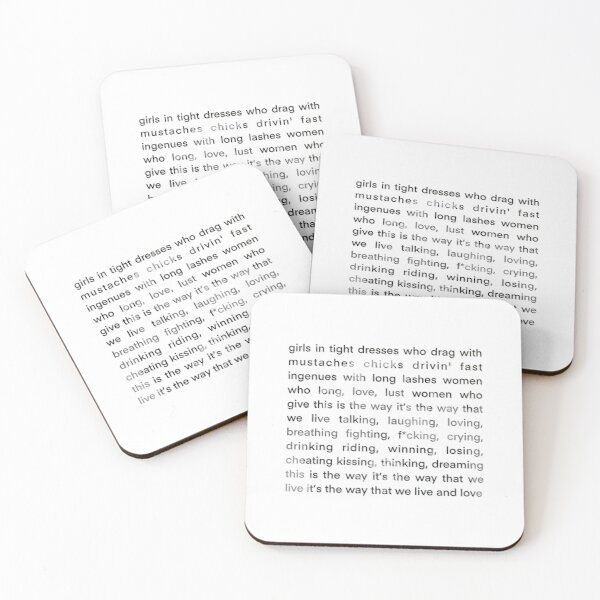 the L word theme song Coasters (Set of 4)