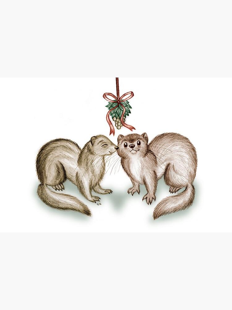 A Ferrety Kiss - Christmas Cards by CGafford
