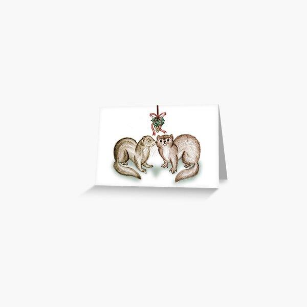 A Ferrety Kiss - Christmas Cards Greeting Card