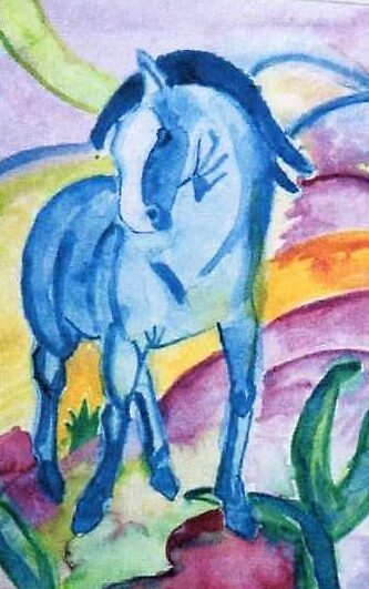 Quot The Blue Horse 1 From Franz Marc Quot By Heidi Mooney Hill
