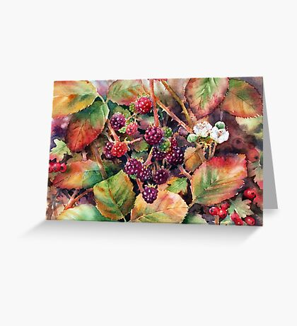 Autumn Hedgerow Greeting Card