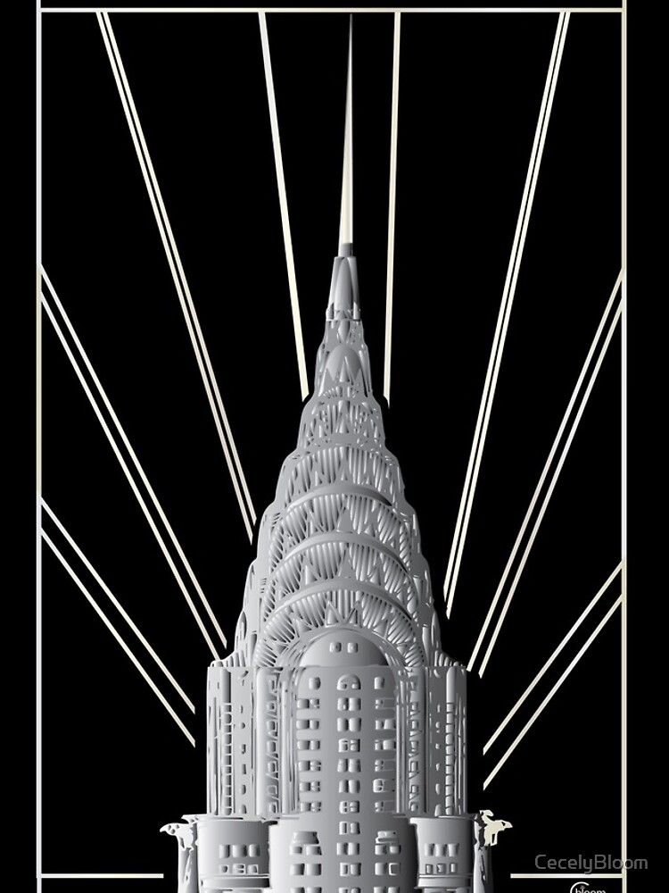 Chrysler Building Art Deco Silver Crown by CecelyBloom