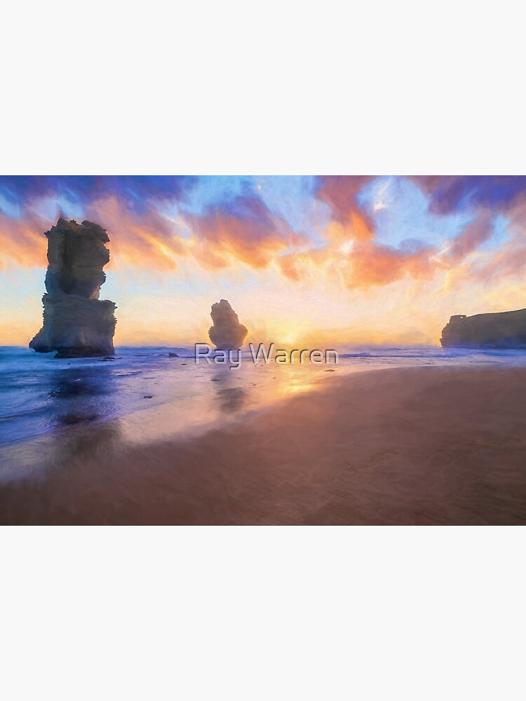 12 Apostles with Marshmallow Skies  (digital painting) by RayW