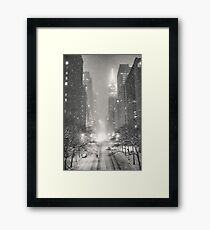 A Winter's Tale - New York City Framed Print