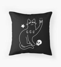 Metal Cat Throw Pillow