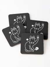 Metal Cat Coasters