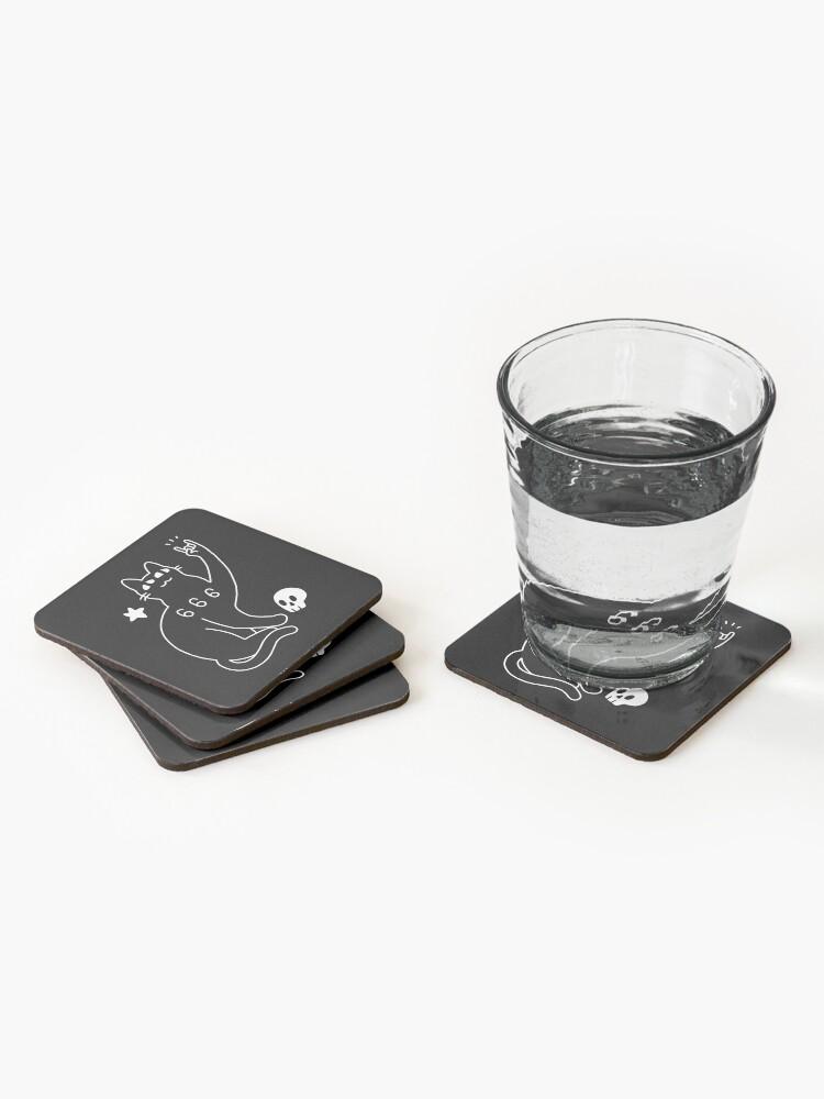 Alternate view of Metal Cat Coasters (Set of 4)