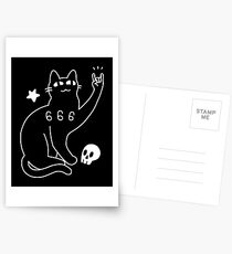 Metal Cat Postcards