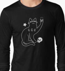 Metal Cat Long Sleeve T-Shirt
