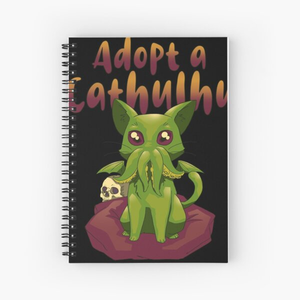 Adopt Cathulhu Spiral Notebook