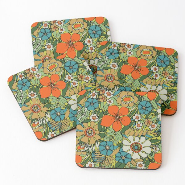 70s Plate Coasters (Set of 4)