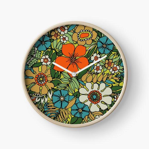 Assiette des années 70 Horloge