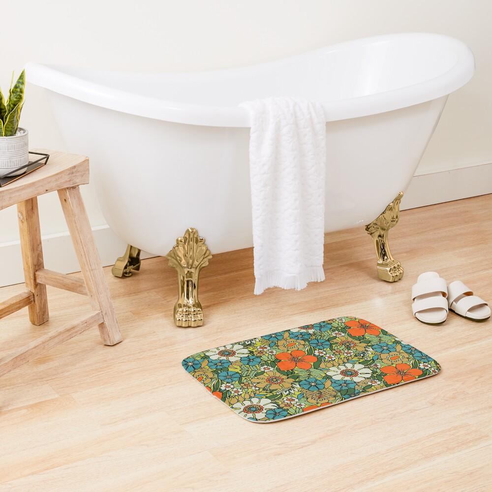70s Plate Bath Mat