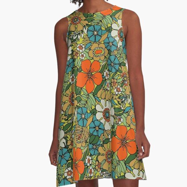 70s Plate A-Line Dress