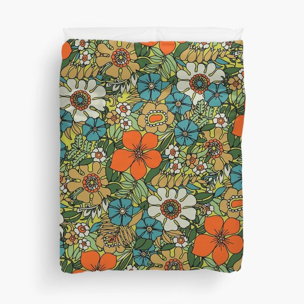 70s Plate Duvet Cover