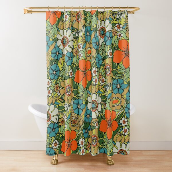 70s Plate Shower Curtain