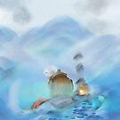 Mountain top Digital art by Phantus