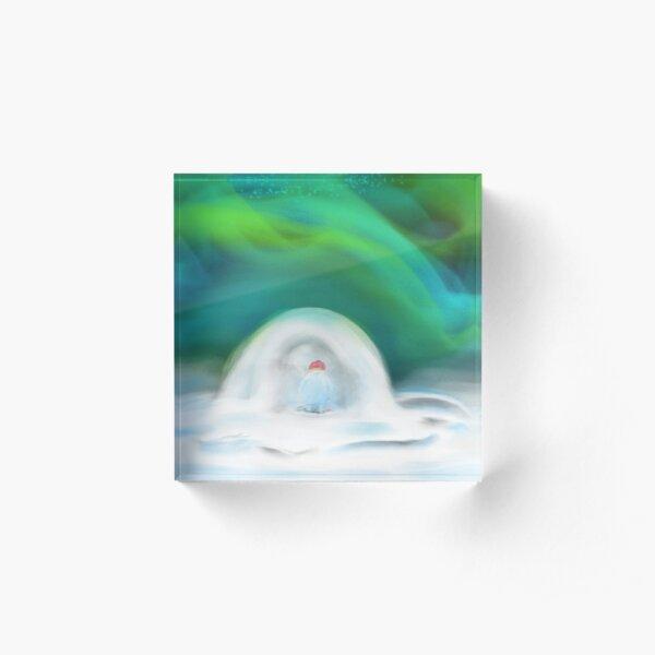 Digital Art with soft colors Acrylic Block