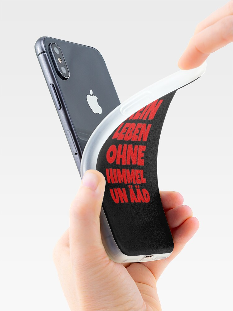 Alternative Ansicht von Kein Leben ohne Himmel un Ääd (Rot) Kölscher Spruch iPhone-Hülle & Cover