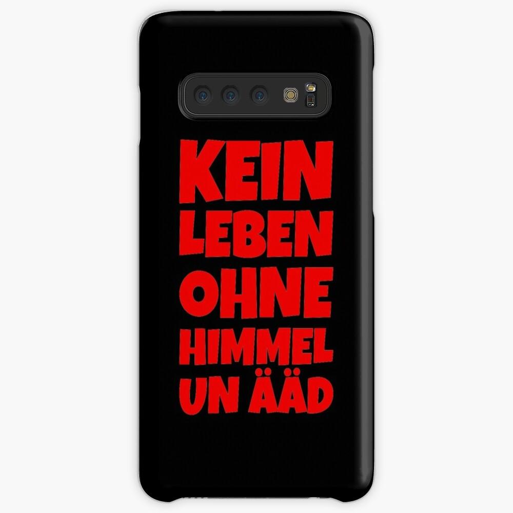Kein Leben ohne Himmel un Ääd (Rot) Kölscher Spruch Hülle & Klebefolie für Samsung Galaxy