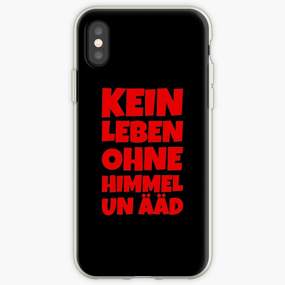 Kein Leben ohne Himmel un Ääd (Rot) Kölscher Spruch iPhone-Hülle & Cover