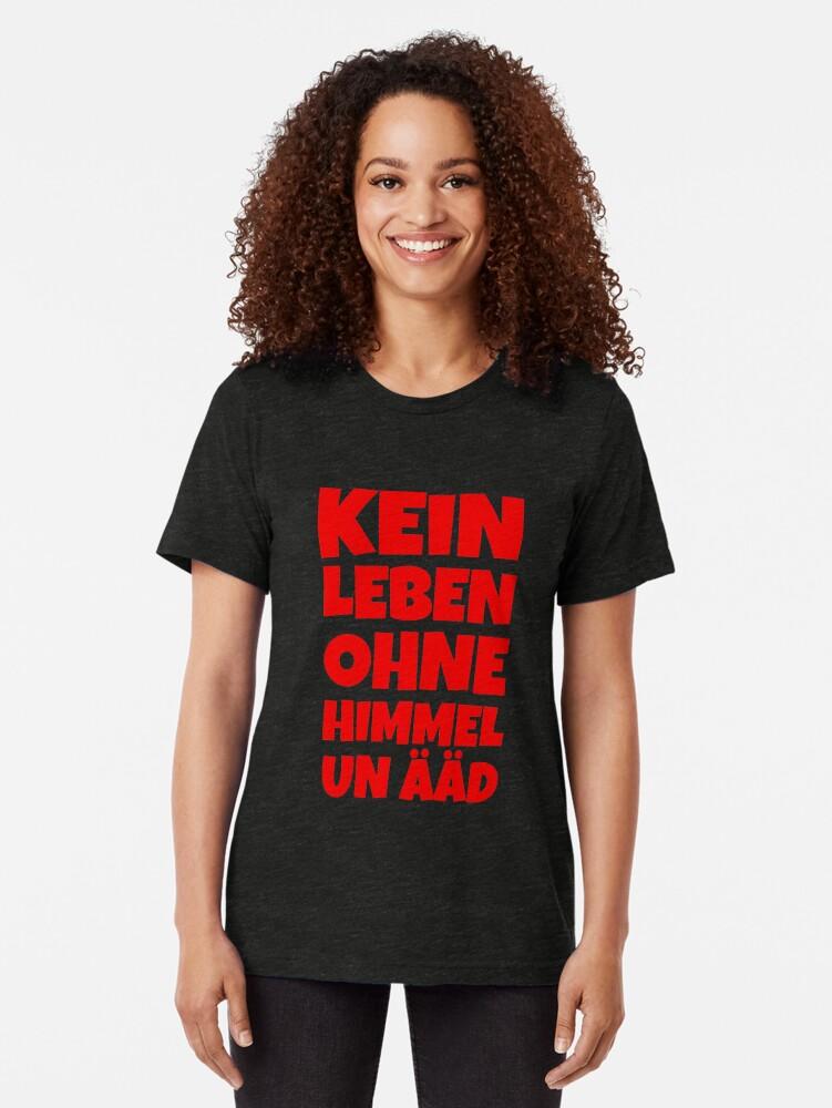 Alternative Ansicht von Kein Leben ohne Himmel un Ääd (Rot) Kölscher Spruch Vintage T-Shirt