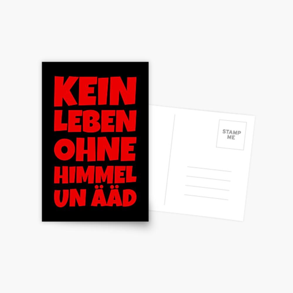 Kein Leben ohne Himmel un Ääd (Rot) Kölscher Spruch Postkarte